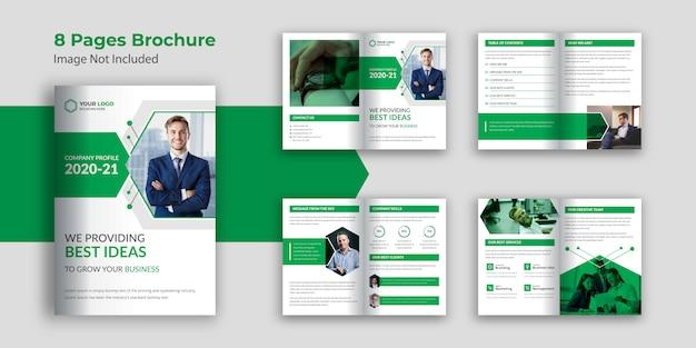 Páginas folleto de perfil de empresa
