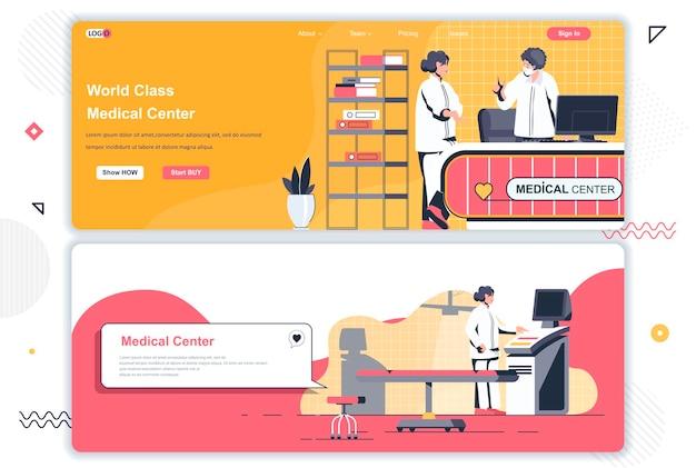 Páginas de inicio de centros médicos