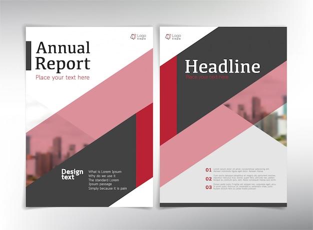 Páginas de portada de negocios modernos, plantilla