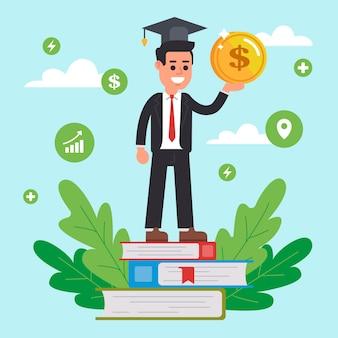 Pago de formación avanzada para la educación en la universidad.