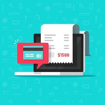 Pago en línea mediante tarjeta de crédito o débito en computadora portátil