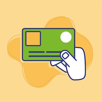 Pago con tarjeta de crédito a mano