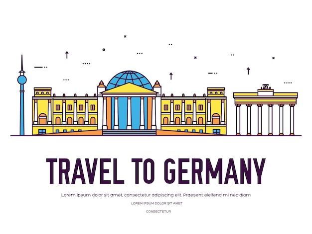 País alemania viaje vacaciones de lugar y característica