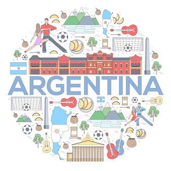 País argentina guía de vacaciones de viaje de bienes