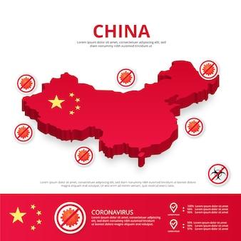 País de china covid-19 infografía
