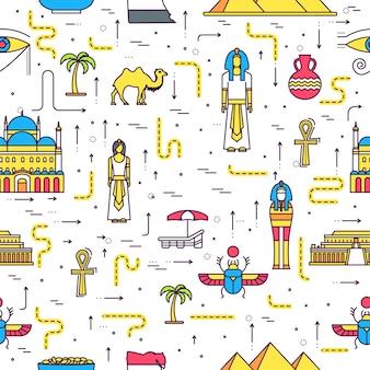 País egipto guía de vacaciones de viaje de bienes, lugares.