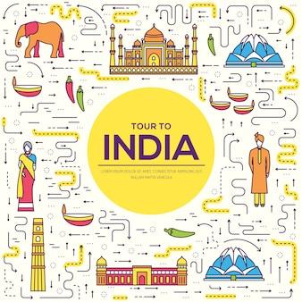 País india guía de vacaciones de viaje de bienes