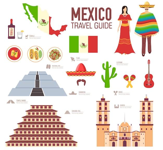País méxico guía de vacaciones de viaje de bienes