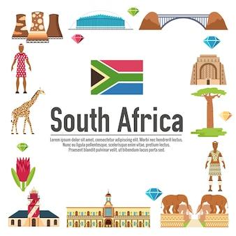 País sudáfrica guía de viaje de vacaciones.