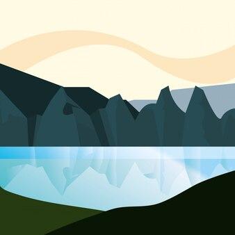 Paisaje abstracto de montaña