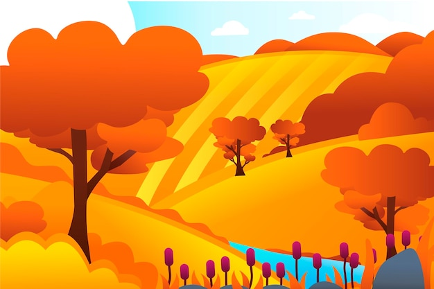 Paisaje de campo con colinas