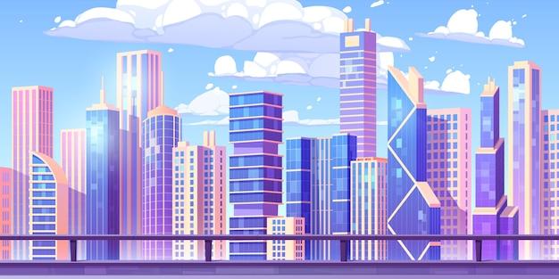 Paisaje de la ciudad de dibujos animados