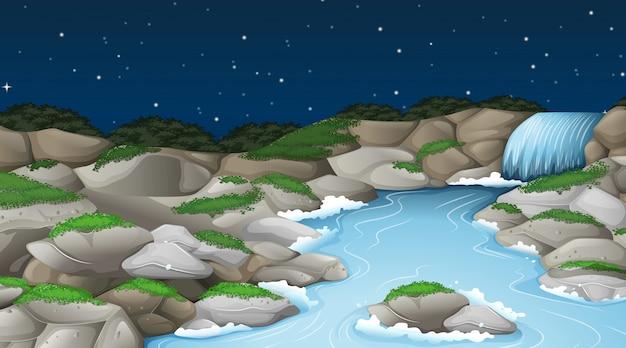 Un paisaje de corriente natural.