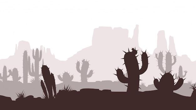 Paisaje del desierto de cactus
