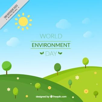 Paisaje por el día mundial del medio ambiente