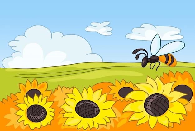 Paisaje de dibujos animados de la naturaleza
