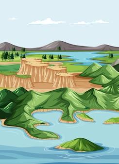 Paisaje geográfico de la naturaleza
