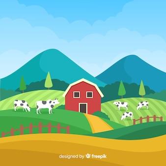 Paisaje de granja