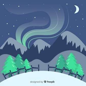 Paisaje invierno humo montaña