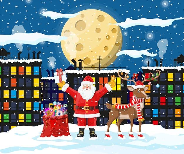 Paisaje de invierno de navidad