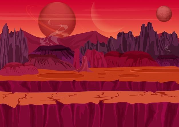 Paisaje de juego de ciencia ficción extraterrestre