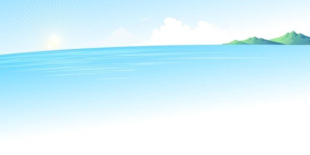 Paisaje de mar azul de verano