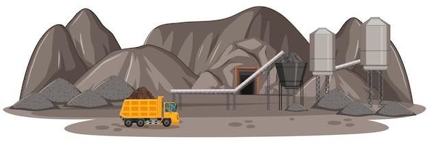 Paisaje de mina de carbón