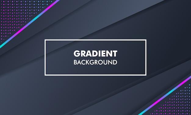 Paisaje moderno gradiente de fondo luz de neón