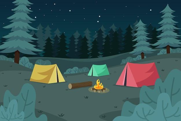 Paisaje natural de la zona de acampada