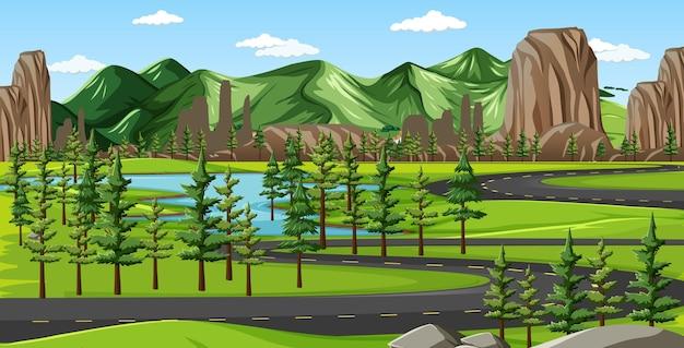 Un paisaje de naturaleza verde.
