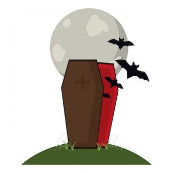 Paisaje de la noche de halloween
