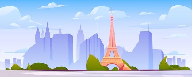Paisaje de parís, horizonte de la ciudad de francia