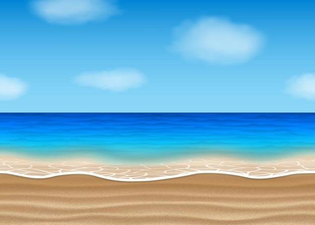 Paisaje de playa sin costuras para el verano