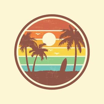 Paisaje de playa de surf