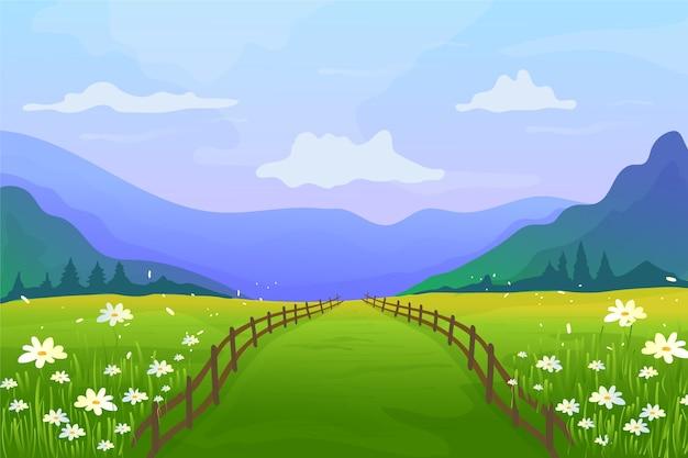 Paisaje de primavera gradiente