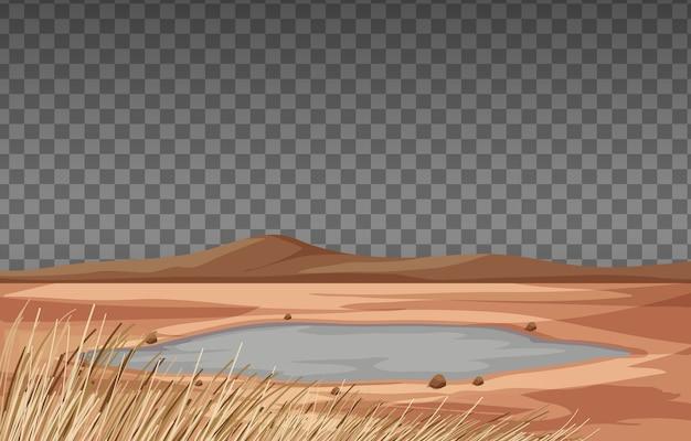Paisaje de tierra seca en transparente.