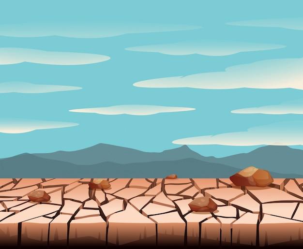 Un paisaje de tierra seca