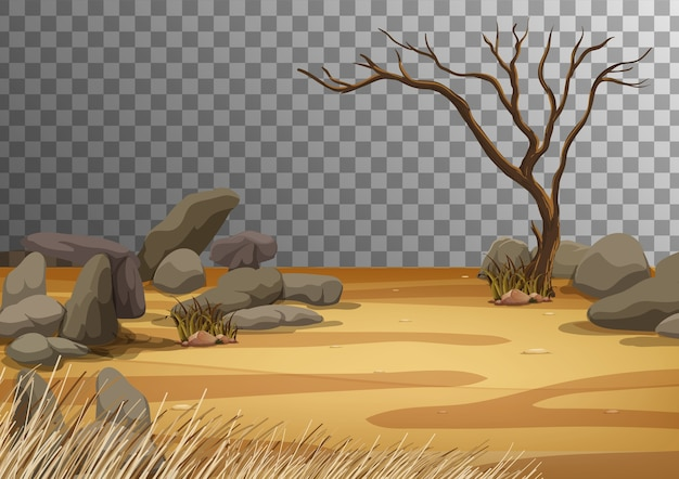 Paisaje de tierra seca