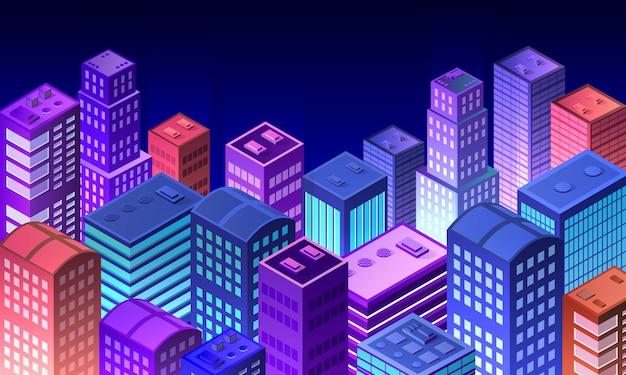 Paisaje urbano 3d ultravioleta