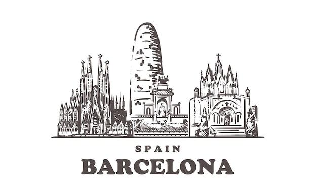 Paisaje urbano de barcelona, españa
