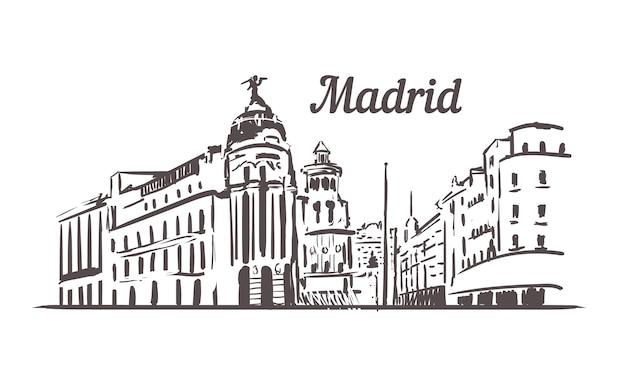 Paisaje urbano de la calle madrid