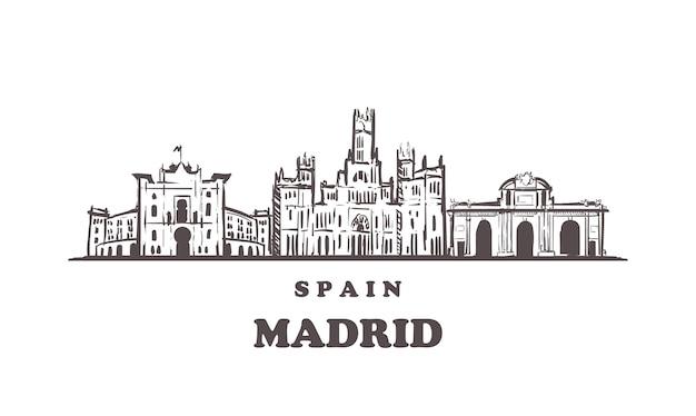 Paisaje urbano de madrid, españa
