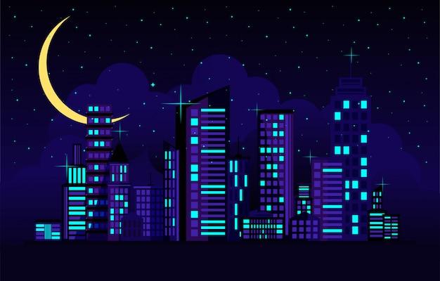 Paisaje urbano nocturno