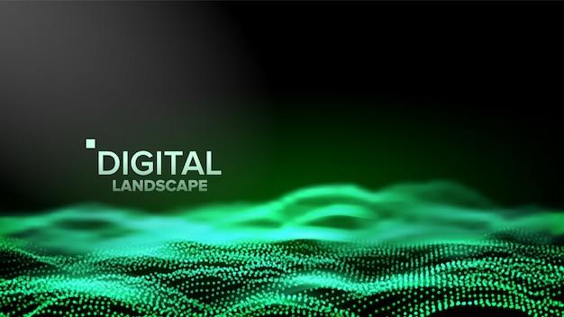 Paisaje verde digital