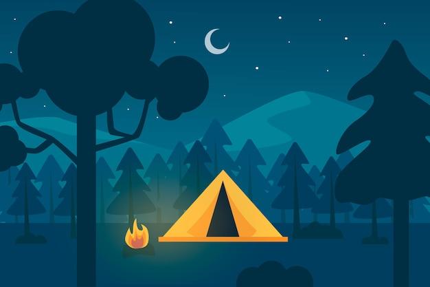 Paisaje de la zona de acampada