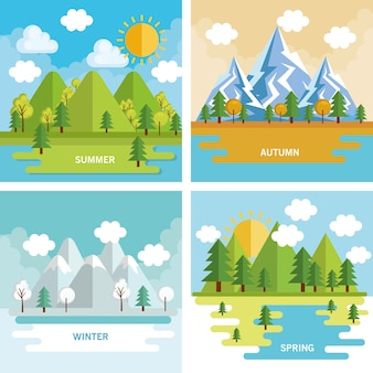 Paisajes de temporada de paisajes