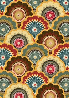 Paisley patrón de arte indio de la pintura.