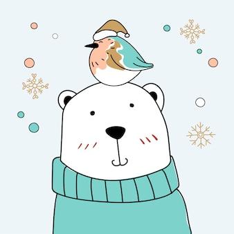 Pájaro y oso
