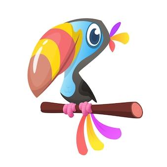 Pájaro tucan de dibujos animados