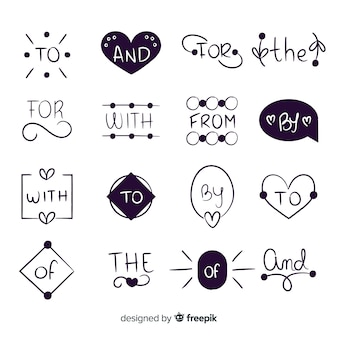 Palabra de boda dibujada a mano